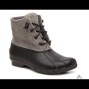 Sperry Grey and Black Boots